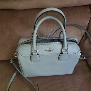 Coach mini bag  .pale blue...only used once.